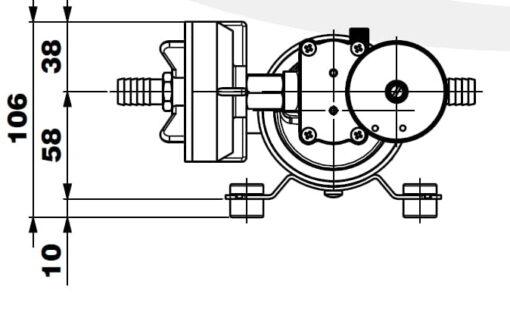 Marco DP12/E Pompe à laver + contrôle électronique 5 bar - 72.5 psi 7