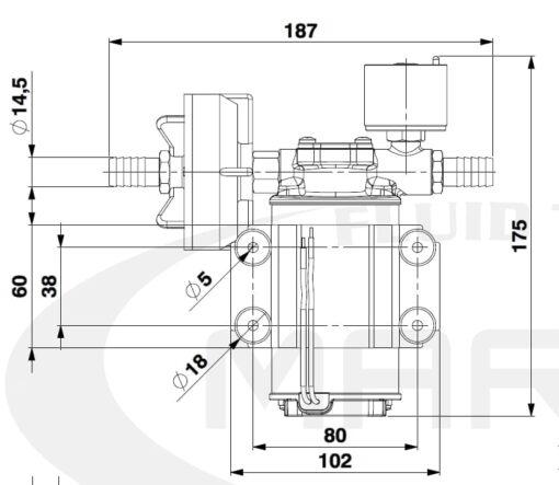 Marco DP3/E Pompe à laver + contrôle électronique 3 bar - 43.5 psi 4