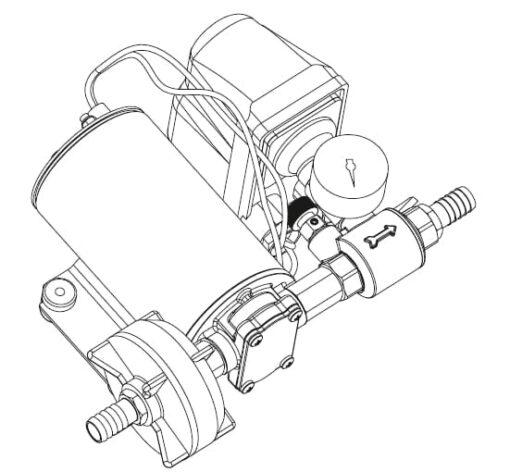 Marco DP9 Kit de Pompe à laver 4 bar - 58 psi (12 Volt) 4