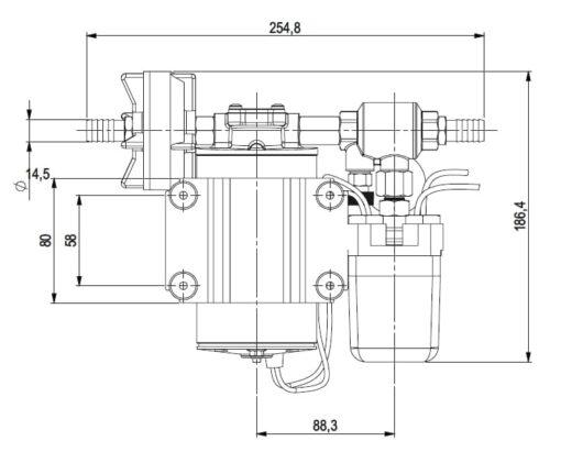 Marco DP9 Kit de Pompe à laver 4 bar - 58 psi (12 Volt) 7