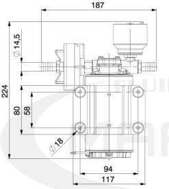 Marco DP9/E Pompe à laver + contrôle électronique 4 bar - 58 psi 11