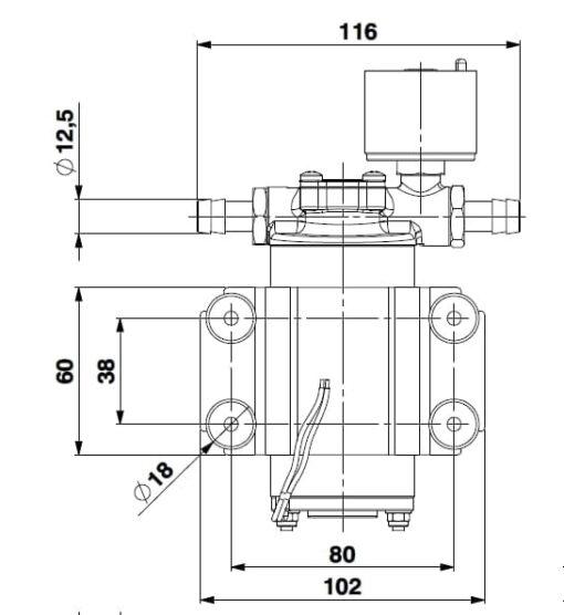 Marco SP2 SP2 Kit pompe douche 2 bar 7