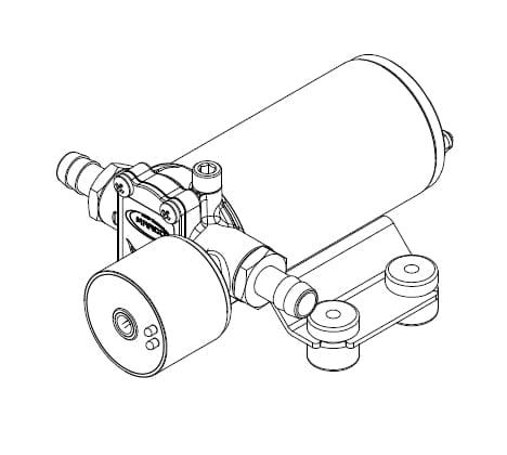 Marco SP2 SP2 Kit pompe douche 2 bar 6