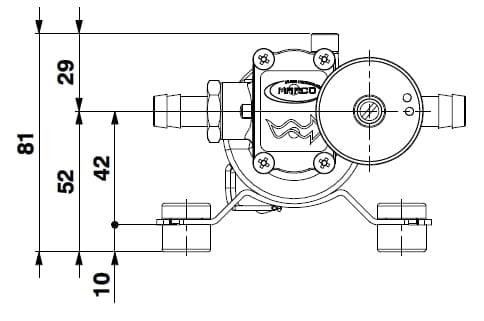 Marco SP2 SP2 Kit pompe douche 2 bar 4