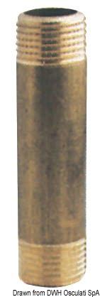 "Raccord rallonge en laiton 1"" x 60 mm - Art. 17.276.24 3"