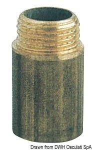 "Rallonge laiton mâle/femelle 1/2"" x 40 mm - Art. 17.278.16 3"