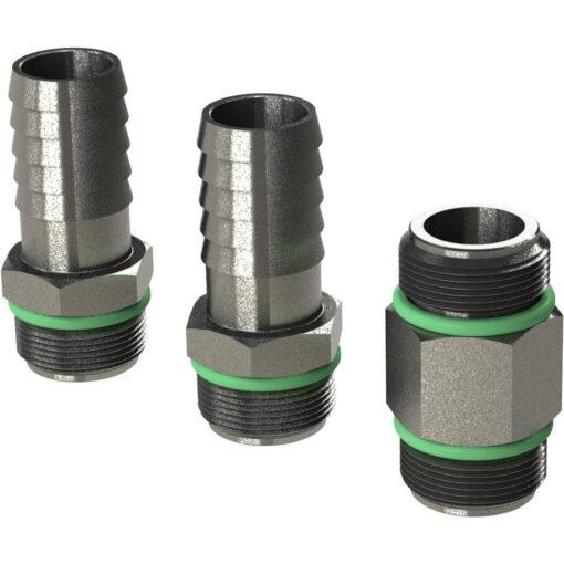 "Marco Pièces de réchange R6400101 - R-KIT hosefittings + nipple 3/8"" s/steel BSP (VITON 2056 O-Ring, hose ø13 mm) 3"